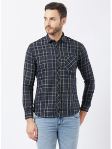 Checkered Black Color Shirt