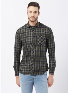 Checkered Green Color Shirt
