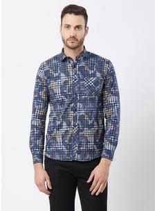 Checkered Blue Color Shirt