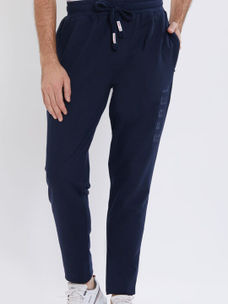 Solid Blue Color Cotton Regular Fit Track Pant
