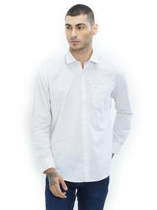 Solid White Color Cotton Slim Fit Shirt