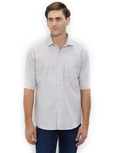 Solid Grey Color Cotton Slim Fit Shirts