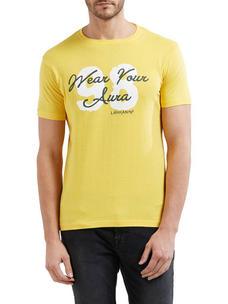 Printed Multicolor Color Cotton Slim Fit T-Shirt