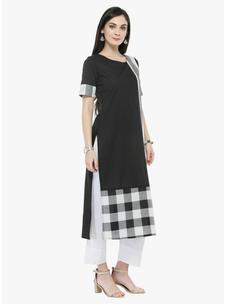 Varanga Black Striped Kurta