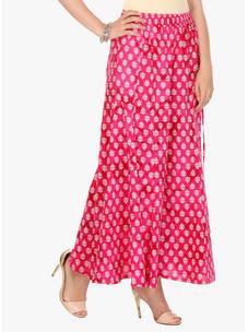 Varanga Pink Cotton Printed Palazzo