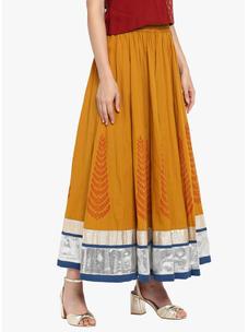 Varanga mustard flared skirt  VAR218710