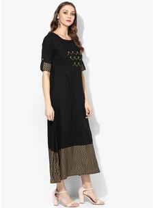Varanga Black Embellished Dress