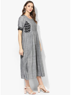 Varanga Grey Solid Dress