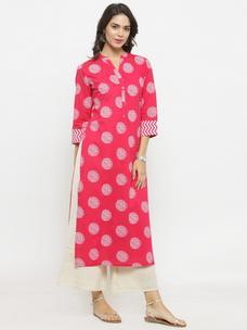 Varanga Pink Printed Kurta