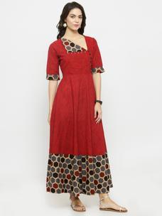 Varanga Rust Solid Dress