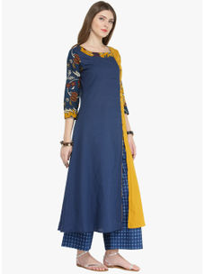 Varanga Indigo Pure Cotton Printed Kurta