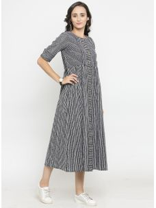 Varanga Stripes Print Dress