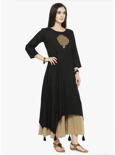 Varanga Black Printed Kurta