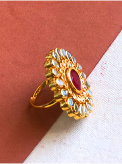 Red Double Layer Ring