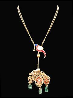 Unique Parrot Barium Necklace