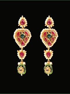 Red Flame Earrings