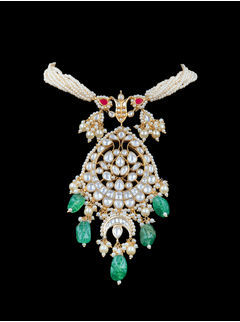 Jharokha Emerald Necklace