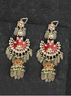Marsala pankhi earrings