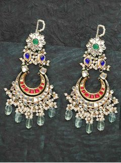 Double Layer White & Red Chandbaalis