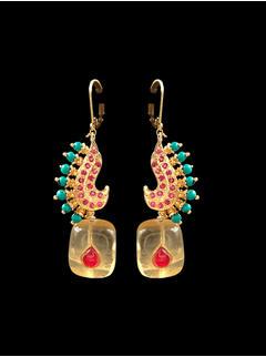 Feroza & Red Earrings