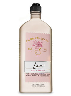 Rose Vanilla Body Wash & Foam Bath
