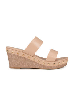 Beige Wedges With Studs