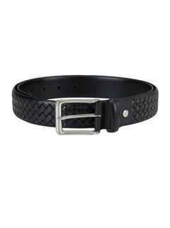 Black Weave Pattern Belt