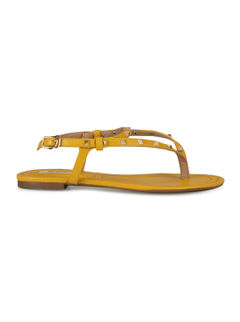 Yellow Embellished Flats