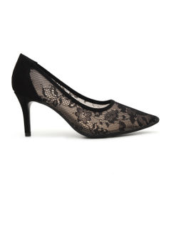 Lace Pointed Toe Heels