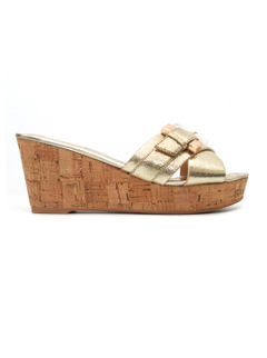 Golden Criss Cross Wedges