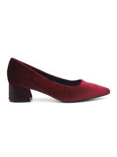 Suede Pointed Toe Block Heels