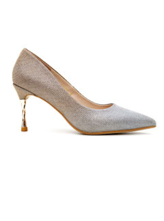 Shimmery Gold Stilleto Pumps