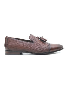 Textured Loafers With Tassels
