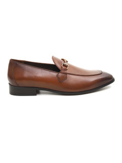 Leather Loafers With Metal Accent
