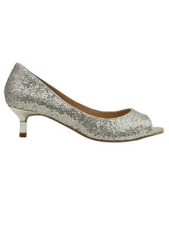Metalic Peep Toe Heels