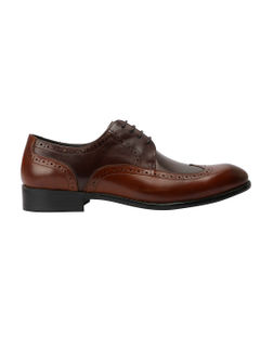 Dual Toned Leather Derby Shoes