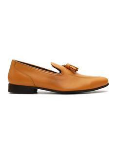 Burnished Leather Tasseled Loafer