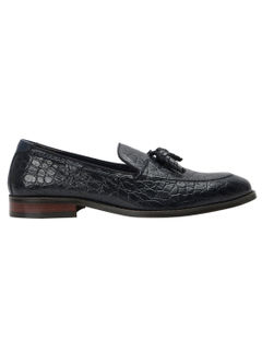 Crocodile Print Tassled Loafers
