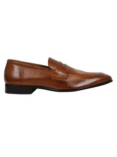 Burnished Penny Buckle Loafers