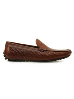 Weave Textured Moccasins