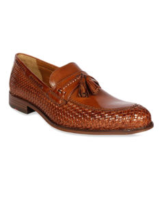 Occasion Slip-ons with Tassels -Tan