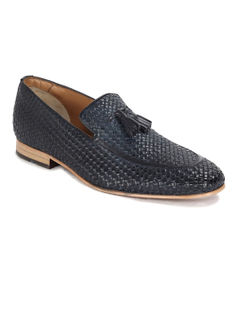 Occasion hand braided Slip-on - Navy