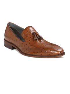 Semi-formal Slip-on with Ostrich print