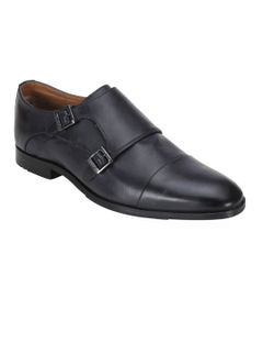 Ergotech Classic Double monk shoes - Navy