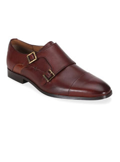 Ergotech Classic Double monk shoes - Brown