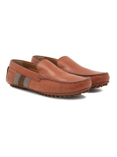 Driving shoes with Stripes- Tan
