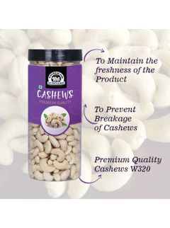 Wonderland Foods Premium Whole (W240) Cashew Nuts 1 KG (Better Quality Than W270)