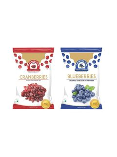 Dried Sliced Cranberries 200 gm + Dried Blueberries 150 gm