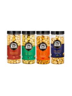 Roasted Makhana Jalapeno 100gm + Peri-Peri 100gm + Mint-Chatpata 100gm + Thai Sweet Chilli  100gm