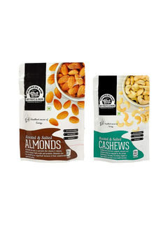 Roasted & Salted Almonds 200gm + Roasted & Salted Cashews 100gm
